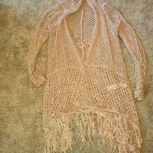 Chico's Brand New Women's Fringed Cardigan Size 1